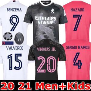 REAL MADRID Hrfc 유니폼 (20) (21) 축구 축구 셔츠 위험 세르히오 라모스 벤제마 아센시의 camiseta 남자 + 어린이 2020 2021 제 4 HUMANRACE
