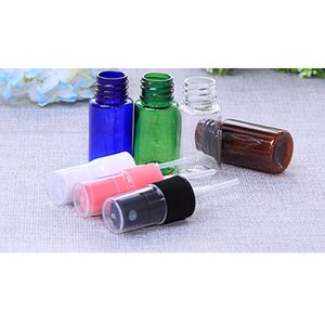 50PCS Portable 10ml Travel Sample Vials Transparent Plastic PET Perfume Atomizer Small Empty Spray Refillable Bottle multi Color