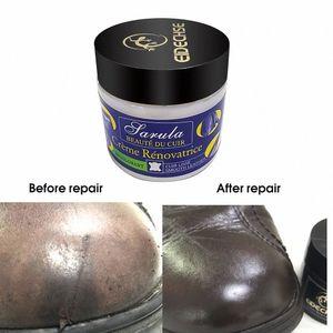 Asiento de coche del cuero Restauración Vinyl Repair Kit agujeros de cuero del asiento de coche automático Sofá rasguño Grietas rasga reparación líquido Crema FrWn #