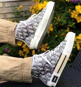 High Top Dior Air Ete Shawn B23 B24 Kanye Oblique Bleu Baixa KAWS Kim Jones Hommes Slipper Triplo Basketball Sneakers Shoes 36-45