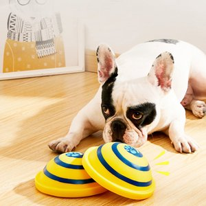Dog Toys Squeaking Sounding Disc Woof Glider Pet Dogs Interactive Vocal Ball Dog Chewing Dog Tooth Ball Clean Food Ball Pet Toy 201111