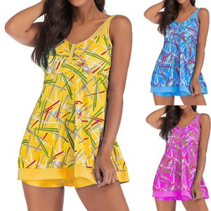 2019 fashion suit large swimsuit print two swimsuit padded swimsuit women's high end TANKINI