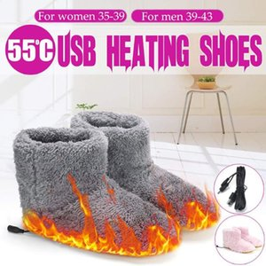 Winter USB Battery Rechargeable Foot Warmer Shoes Men Women Elactric Interface Hiding Washable Charger Power Saving Plush