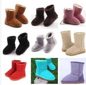 FREIES VERSCHIFFEN Marke Kinder Schuhe Mädchen Stiefel Winter-warmer Knöchelkleinkind-Jungen Stiefel Schuhe Kinder-Schnee-Aufladungen für Kinder Plüsch Warm Schuh