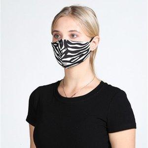 Respirators Leopard-Staubdruck-Drucken Anti-faltbarer wiederverwendbarer Gesicht Mascherine Olneroop einstellbare Mundmasken Frühling und Sommer01