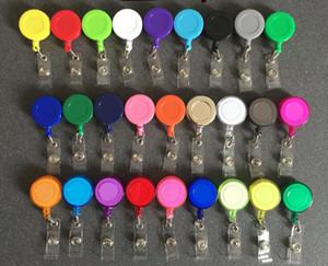 50pcs Badge Reel Retractable Ski Pass ID Card Badge Holder Key Chain Reels Anti-Lost Clip Office & School Supplies