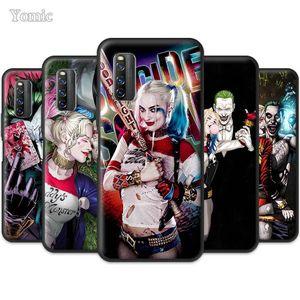 Yomic Harley Quinn Joker Case for Vivo iQOO 3 5G Z1 V19 S1 Y15 Pro Y12 Y17 Y19 Y30 Y50 Black Silicone Soft Mobile Phone Cover