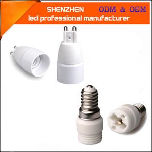 E14 G9 Lamba Tutucu Adaptörü Dönüştürücü Taban G9 E14 Tutucu Soket Beyaz Çömlek ve Porselen G9 LED Lamba Ampuller için