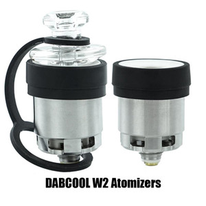 Authentic DABCOOL W2 Enail Atomizer Hookah Wax Concentrate Coil Tank Budder Dab Rig Vape Kit With 4 Heat Settings Long Lasting 100% Original