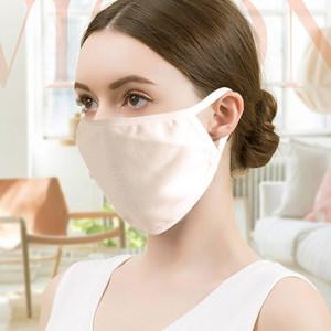 PM2.5 Filtrasyon İpek Yeniden kullanılabilir Filtre Hava Kadınlar Maske Maske PM2.5 Filtrasyon İpek Yeniden kullanılabilir Filtre Hava Kadınlar Kvgpp Maske