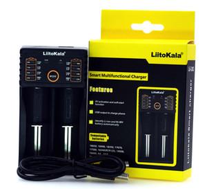 LIITOKALA LII-202 18650 carregador USB multi-função 26650 lanterna brilhante carregador recarregável li-ion carregador de bateria frete grátis