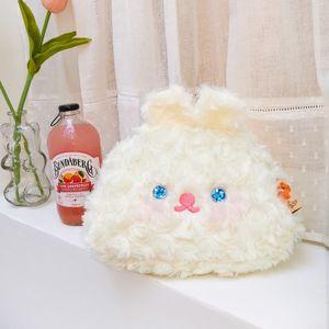 Electric eye rabbit lolita fashion plush cosmetic bag girl heart plush bag rabbit shape