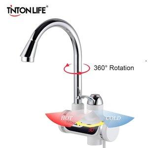Tonton Life Tankless Anında Elektrikli Su Isıtıcı Sıcaklık Ekran Su Isıtma Mutfak 3000 W Su Isıtıcı LED AB Tak ile FY7403