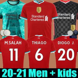 Versione del giocatore 20 21 LVP Mohamed M. Salah Firmino Soccer Jersey Camicie da calcio Virgil Mane Keita 2020 2021 Portiere Uomo + Kids Kit Unifor