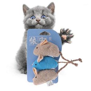 3 шт. / Установить Крыс Squeak Shooth Sound Toy Toy Pet Cat Котенок царапая плюшевые мыши, играющие Toy1