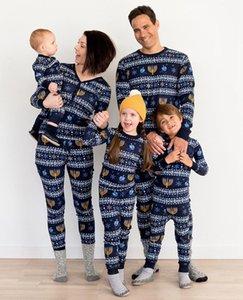 A juego Navidad de la familia pijamas mismo patrón de impresión Domicilio para Niños Niñas hombres y mujeres entre padres e hijos Inicio Set