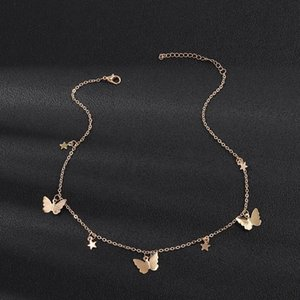 Clavicle Choker For Color Necklace Gold Collar Sale Fashion Women Butterfly Stars Necklaces Chain Hot New Jewelry Accessories tsetZFL