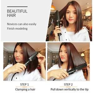 2 In 1 Professional Steam Hair Straightener Dry And Wet Four-Speed Thermostat Hair Straightening Curling Iron Hair Styling ToolR
