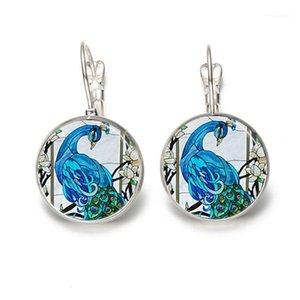 1PC Silver Fashion Hommes et femmes Pendentifs Blue Paon Collier Peacock Bird Bijoux Cadeau Connexion personnalisée1