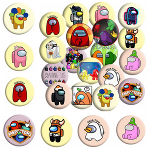 18 Styles Hot Game Among Us Badge For Backpack DIY Cartoon Icon Lapel Pins Brooch For Women Men Bag Badge Christmas Gift