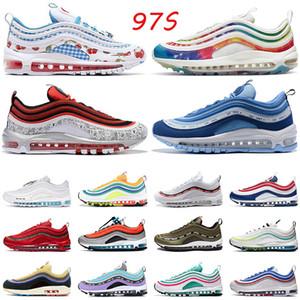 2020 Nike Air Max 97 حار بيع 97S إمرأة رجل الاحذية الهواءماكسايرماكس اسود GS سكاي الثلاثي الأبيض قزحي الألوان NIK أحذية رياضية في الهواء الطلق الاحذية