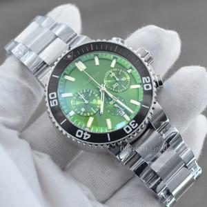 Горячие Продажи Мужские Спортивные Часы Кварц Движение Хронограф Часы Индивидуальные Зеленые Лицевые Резина Резина Мужская Часы Монр Homme