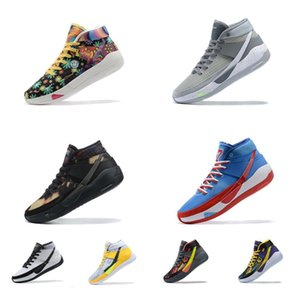 Mens kd 13 Kevin Durant xiii basketball shoes Easy Money Sniper Peace Flower Floral Bleach Multi Grey new lebron 18 sneakers tennis with box