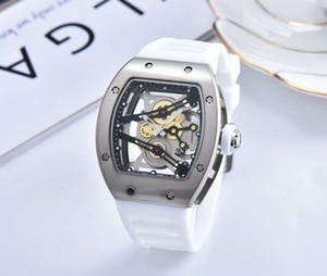 새로운 고품질 망 시계 실리콘 고스트 헤드 해골 시계 두개골 스포츠 석영 빈 손목 시계