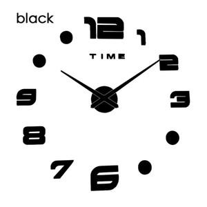 Luminous Creative New Wall Clock Clocks Watch Horloge Murale Diy 3d Acrylic Mirror Sticker Large Home Quartz Needle Modern Desi jllosR