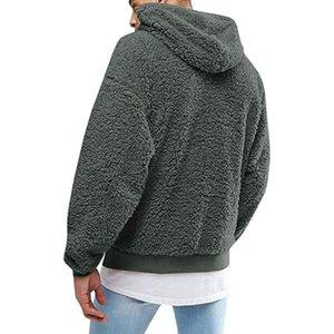 Hille Sweats Sweats à Sweats Sweatshirts Hiver Couleur Solide Soux Souffle Feuillette Fluffy Capuche Sweatshirts Pull Sweats à capuche Sweatshirts Y0104