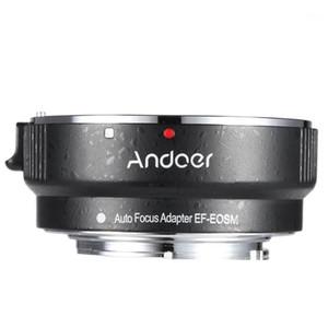 Andoer EF-EOSM Lens Mount Adapter Ring Lens ل EF / EF-S سلسلة عدسة إلى EOS M EF-M M2 M3 M10 دعم الجسم صورة الثبات