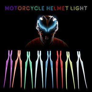 2Pcs Motorcycle Helmet Light Strip LED EL Cold Light Night Riding Signal Luminous Modified Sticker Waterproof