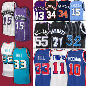 CARTER 33 GRANT NCAA 11 ISIAH HILL THOMAS10 Родман Деннис 34 Чарльз 13 Стив Баркли Нэш 15 Винс-колледж Баскетбол Джерси