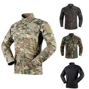 Открытый спортивный шестерня Jungle охотничьи леса стрельба рубашка боевые платья форма BDU одежда тактическая камуфляжная рубашка P05-138