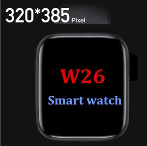 iOS 안드로이드 Huawei 시계 Oppo PK Amazfit GTS GT 2 HW12 T500을위한 1pcs W26 스마트 시계 시리즈 6 Smartwatch