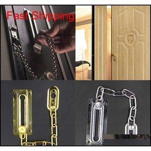 Cadena de la puerta de cromo Guardia de seguridad de seguridad de seguridad PEEP Bolt Locks Cabinet Qylegn DH_Seller2010