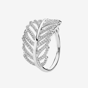 جميلة ضوء الريشة RING ريال 925 فضة مجوهرات الماس CZ الصيف لCZ خواتم الماس مع مربع