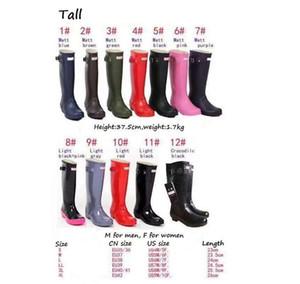 Bottes de pluie pour femmes en caoutchouc pour femmes British Britanniques Rain Boots Rain Beaux Wellington Matte Boot Bottes de pluie Y1221