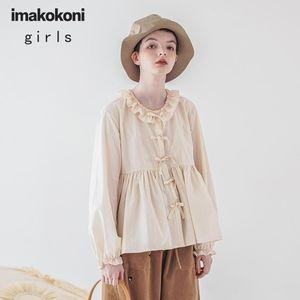 design original Imakokoni bege solta camisa japonesa sentido floresta 20 Primavera do sexo feminino novo 202920