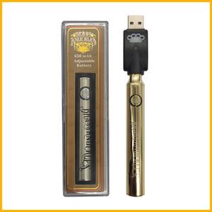 Knuckles de latón Prefacio Kits de batería Preeating Kit de inicio CO2 Vaporizador de aceite Pen 510 Vape Pen Vaporizador 650 / 900mAh Baterías para cartucho