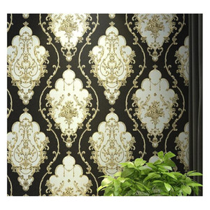 red,blue,black gold victorian classic european floral damask wallpaper 3d stereo wall paper roll home decor living room