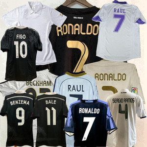 Retro Classic Real Madrid Soccer Jerseys Zidane 1997 1998 1999 2000 02 03 04 05 07 08 08 2010 2011 2011 2016 2015 2015 16 17 retro camicia di calcio