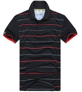 Nova Primavera Luxo Itália Homens T-shirts Designer polo Camisas High Street Bordado Stripe Crocodile Printing Roupas Mens Marca Polo Camisa