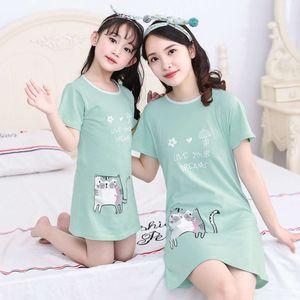 2020 Nightdrs de verano de verano Pijamas de algodón infantil