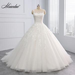 Vestidos de novia vestido de bola Miaoduo 2020 nueva princesa Vestidos de Novias de las lentejuelas vestidos de novia de encaje hasta trouwjurk Q1113 simple
