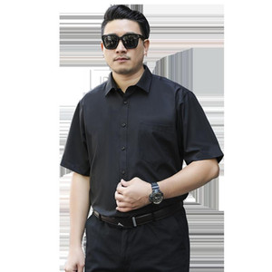 2020 New Arrival Brand Men's Summer Business Shirt Short Sleeves Turn-down Collar Tuxedo Shirt Plus Size Men Shirts Big 8XL 7XL