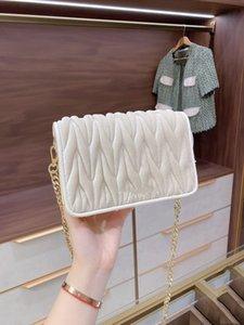 new fashion Velour Pleated mini shoulder bag leisure chains messenger bag six colors