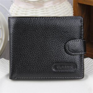 HBP Fashion Purse Genuine Leather Men Wallet Small Men Wallet Hasp Male Short Soft Coin Purse Brand High Quality Money