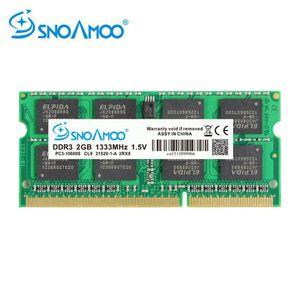 SNOAMOO Laptop RAMs DDR3 2GB 4GB 1333 1600MHz PC3-10600S 204 Pin 1.5V 2Rx8 SO-DIMM Computer Memory Warranty