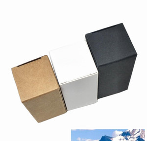 50pcs White Black Brown Kraft Paper Essential Oil Bottle Packaging Box Party Diy Crafts Gift Carton Pack Box Papercard bbytFt warmslove